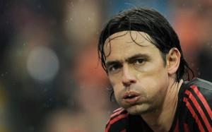 Filippo Inzaghi saluta i suoi ex compagni rossoneri