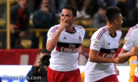 Esultanza Pazzini Bologna-Milan